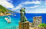 Sea, rocks, shore, Italy, landscape, Italy, travel, Monterosso a