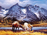 #Mountain Painting by Terry Redlin