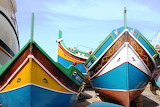 Boats in the port of the island of Malta