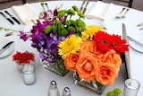 Colorful Flower center piece