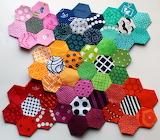 Hexagons, patchwork