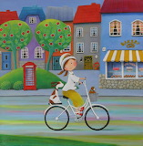 Ulla and friends go for a bike ride - Iwona Lifsches