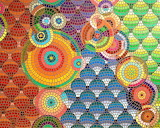 Painted mosaic, Amy Fortier