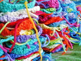 Rainbow stacks of granny squares