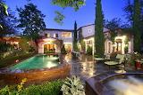 Glamorous Mediterranean style house, pool, garden