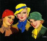 Beauty Trio~ vintage ad art