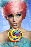 Cotton Candy Lady