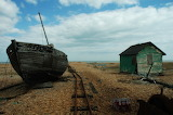 Old Boat at Dungeness, Kent, Britain