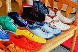 Shoes of various colors