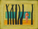 Abisalov Yuri, Changing huts by trees, 2005