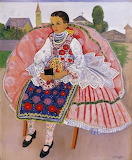 Géza Vörös, Girl in Folk Costume