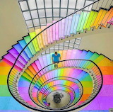 Rainbow staircase