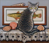 Art Cat-lets go fishing