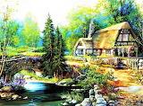 #Beautiful Cottage by Thomas Kinkade