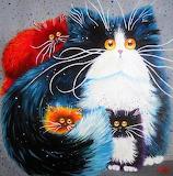 the frightened cats, Yaryna Bosak