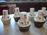 Snowmen-cupcakes