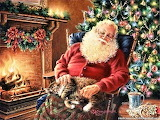 Gelsinger, Donna Santa Relaxing with His Cat