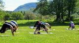 Yoga Class Along Jug End Trail