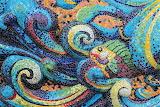 stone fish mosaic