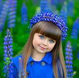 beautiful blue eyed girl