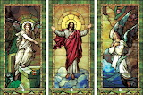 Jesus Christ, stained glass