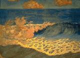 Marine bleue, Effet de vague by Georges Lacombe 1893