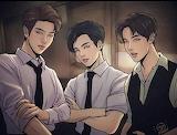 RM, JK & J-Hope~BTS /Animation