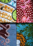 Fabric pattern textile collage