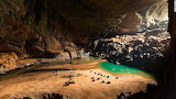 Camping out at entrance to Hang Son Doong Cave Vietnam
