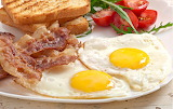 ^ Bacon eggs toast breakfast