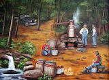 Folk Art Painting by Arie Reinhardt Taylor