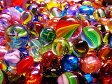 Bright, Colorful Marbles