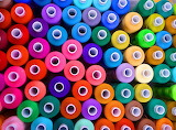Spools of colored cotton