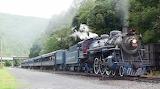 Tourist Steam Engine Train through Lehigh Gorge