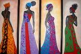 pinturas mujeres africanas