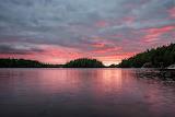 Sunset Voyageurs National Park Snake Island