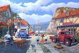 Busy Harbour - Derek Roberts