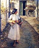 Selling Chickens in Liguria. Henry Herbert La Thangue 1906