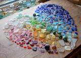 ^ Sea Glass Rainbow Heart