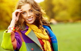 Beautiful girl with colored coat