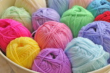 Pastel colors of yarn