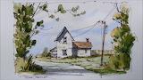 ^ Fall Farmhouse ~ Peter Sheeler