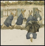 Beatrix Potter Christmas Party Arrival