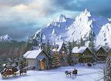 winter mountain village
