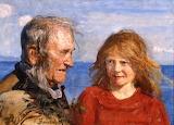 Fisherman and Daughter by Hans Heyerdahl