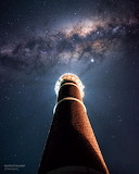 "Space tumblr nasa-daily ""Milky Way over Uruguayan Lighthouse"""