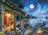 'Moonlight Lodge' by Darrell Bush