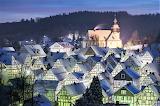 Church freudenberg germany night