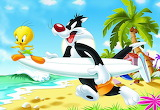 Tweety and Sylvester Go Surfing