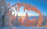 Winter Sunrise in Mountains Sakha Republic Siberia